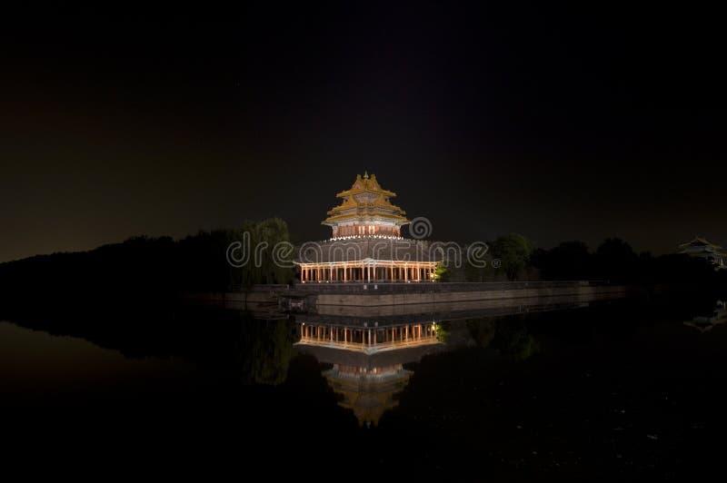 Moat & turret, Forbidden city royalty free stock photo