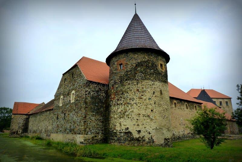 Moated castle Åvihov stock image
