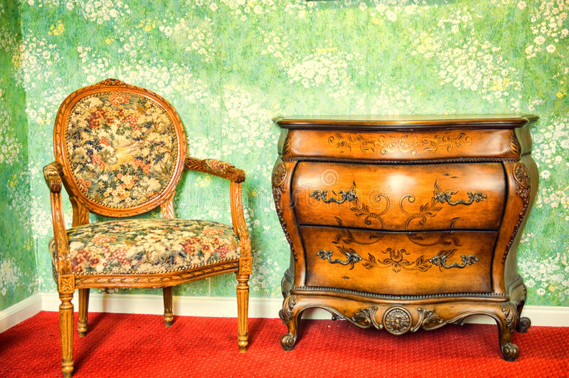 Mobília antiga foto de stock royalty free