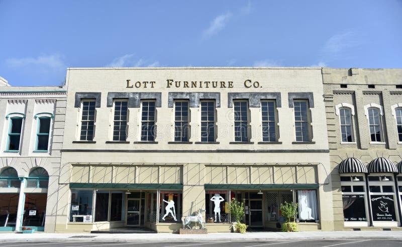 Mobília Comapany de Lott, meridiano, Mississippi imagem de stock royalty free