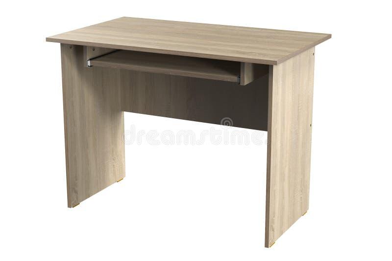 Mobília da tabela do escritório domiciliário do carvalho do cartão da mesa do computador ilustração royalty free