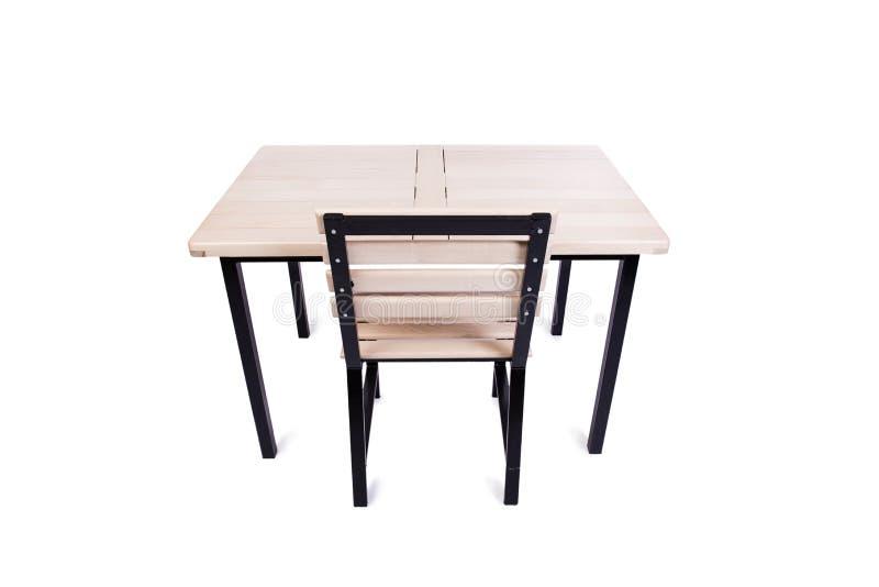 A mobília da tabela isolada no branco imagem de stock royalty free