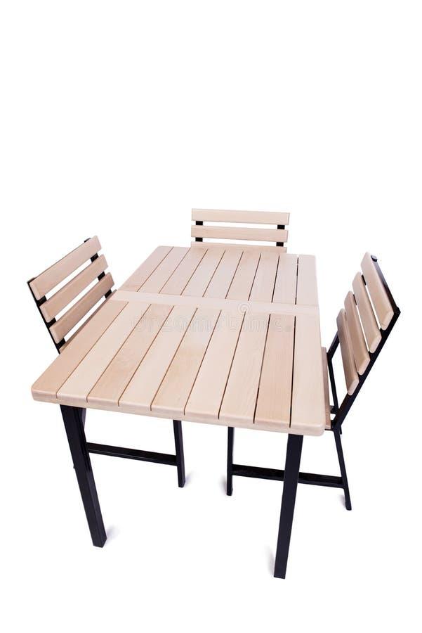 A mobília da tabela isolada no branco foto de stock