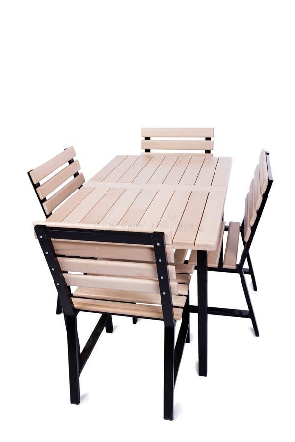 A mobília da tabela isolada no branco fotografia de stock