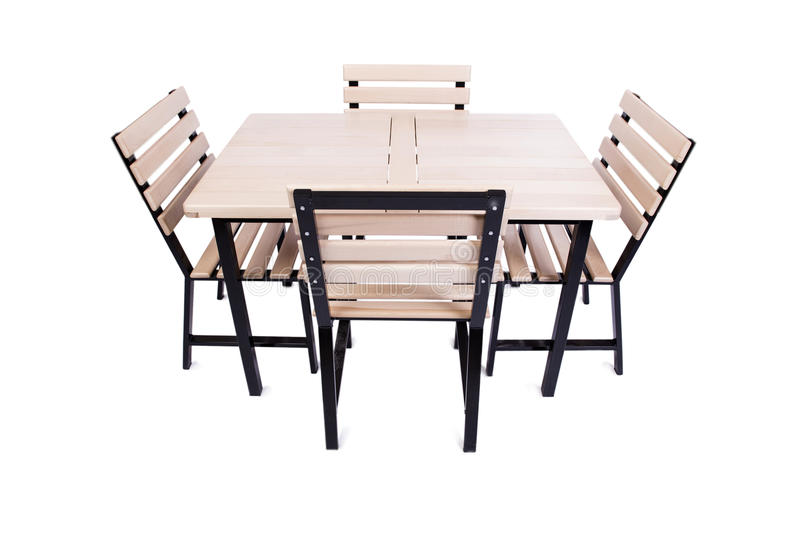 A mobília da tabela isolada no branco imagens de stock royalty free