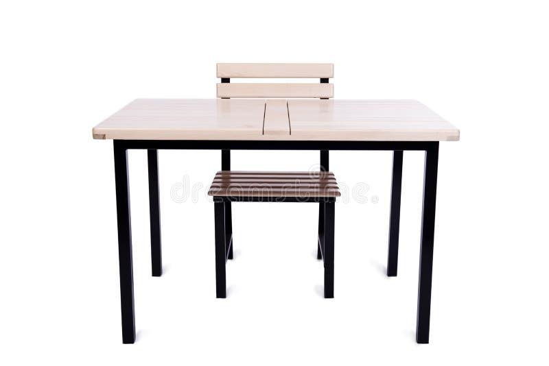 A mobília da tabela isolada no branco foto de stock royalty free