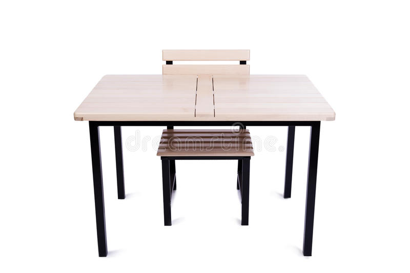 A mobília da tabela isolada no branco fotos de stock