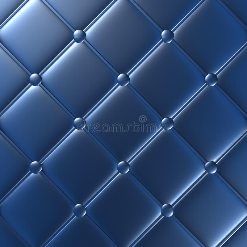Mobília de couro azul luxuosa, papel de parede, ilustração ilustração do vetor
