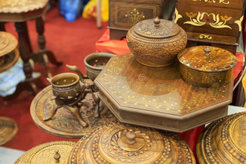 Mobília de madeira de Paquistão imagem de stock