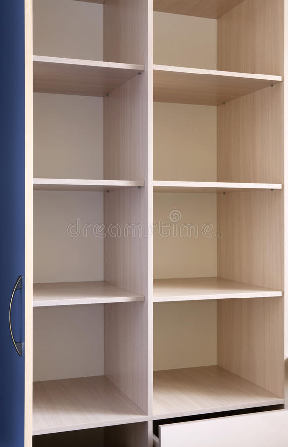Mobília de madeira vazia fotografia de stock