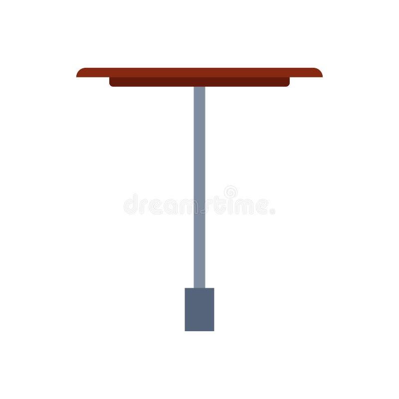 A mobília do ícone do vetor da opinião lateral da tabela isolou interior A mesa vazia do elemento do negócio de madeira anuncia S ilustração stock