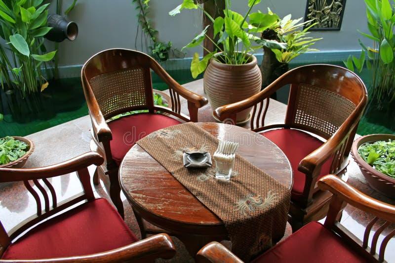 Mobília do Balinese fotografia de stock