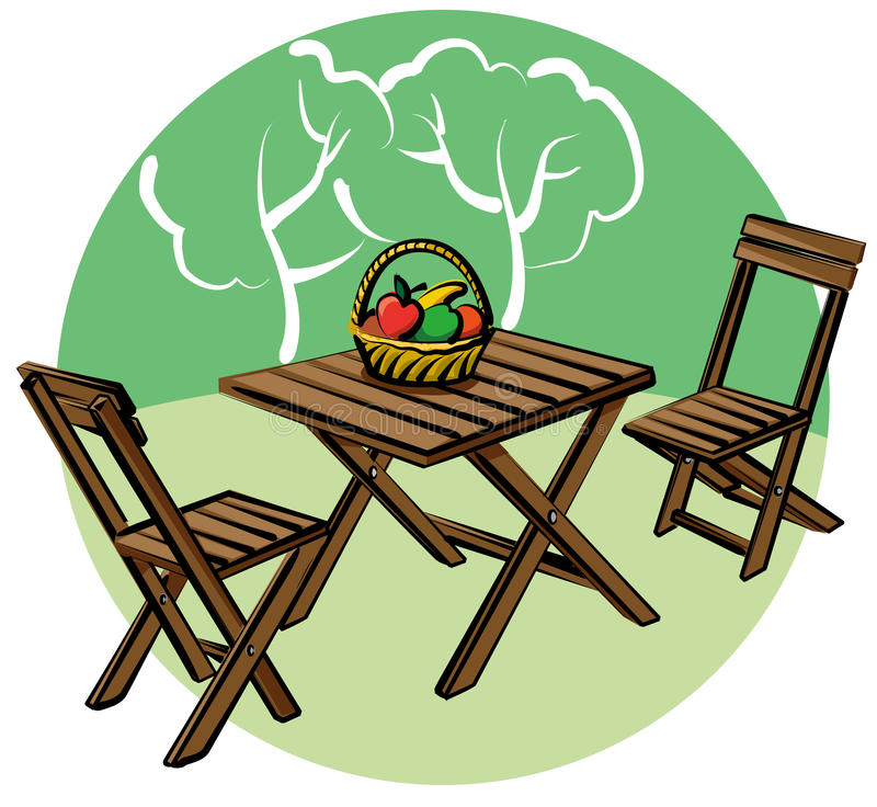 Mobília do jardim ilustração do vetor