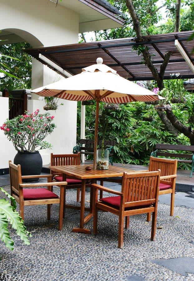 Mobília do jardim. fotos de stock