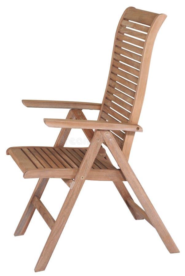 Mobília do jardim da teca, mobília do jardim, cadeira da teca foto de stock royalty free