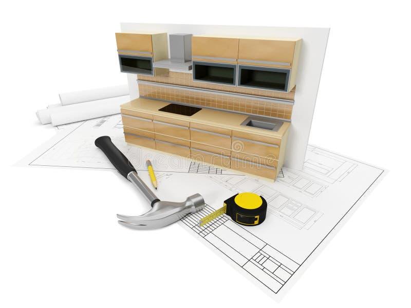 mobília do projeto ilustração stock