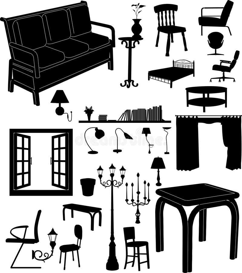 Mobília ilustração stock