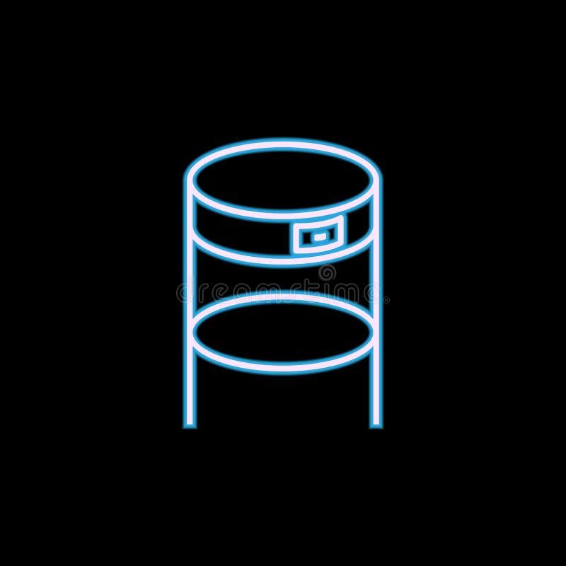 mobília para o ícone da antecâmara no estilo de néon Um do ícone da coleção da mobília pode ser usado para UI, UX ilustração stock