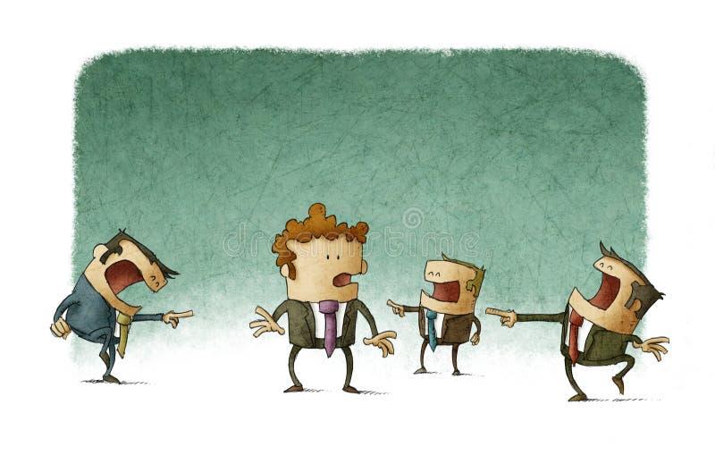 Mobba för affär stock illustrationer