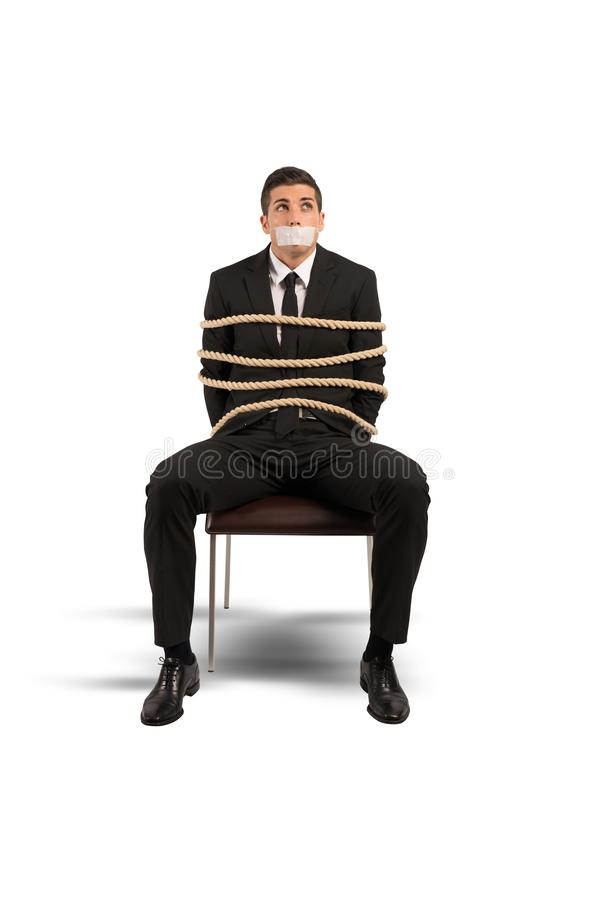Mobbing and stress at work. Concept of mobbing and stress at work stock photo