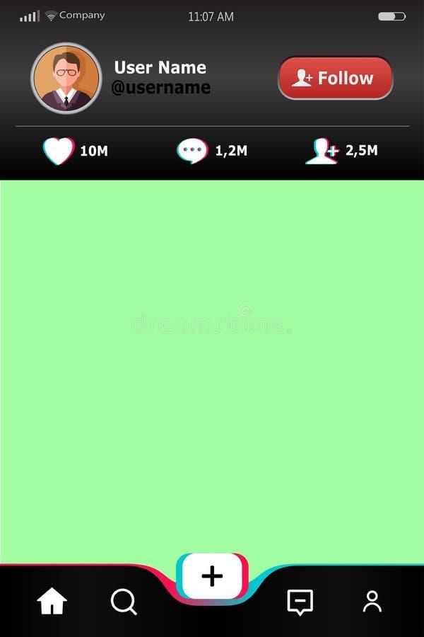 Mobiel app malplaatje Achtergrond voor mobiele verbinding met pictogrammen sociale media toepassing Bedrijfs infographic brochure stock illustratie