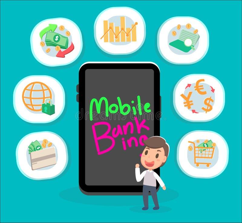 Mobiel Bankwezen stock illustratie