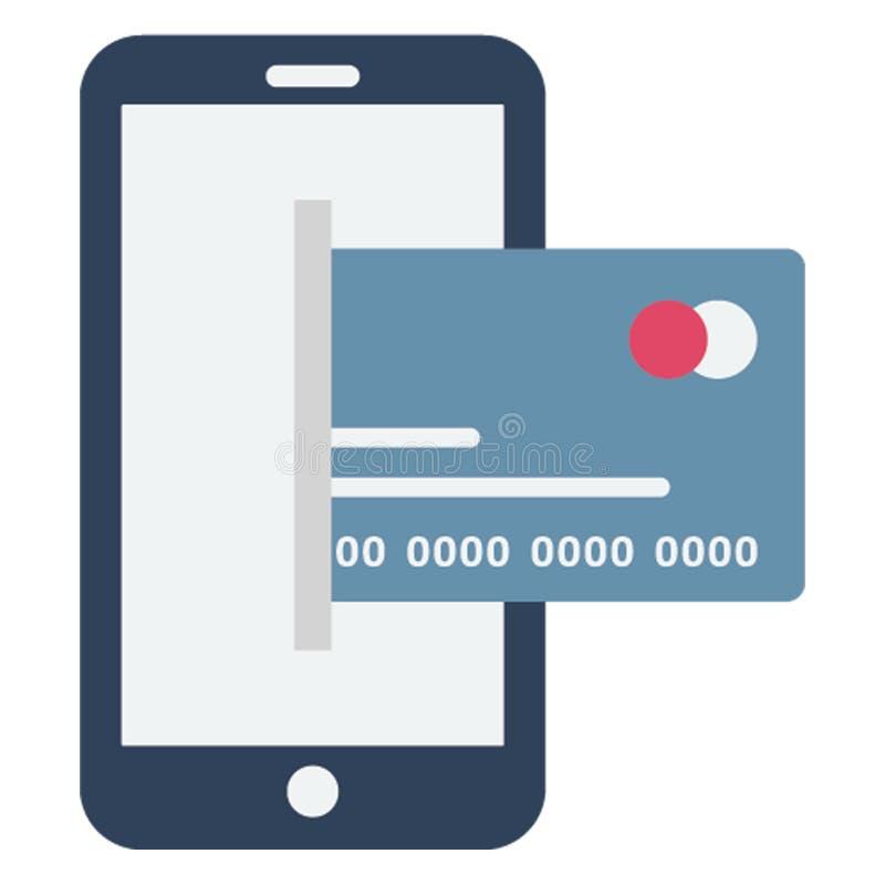 mobiel bankwezen, mobiel betaling Geïsoleerd Vectorpictogram dat gemakkelijk kan worden uitgegeven stock illustratie