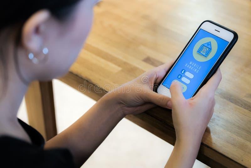 Mobiel Bankwezen royalty-vrije stock foto
