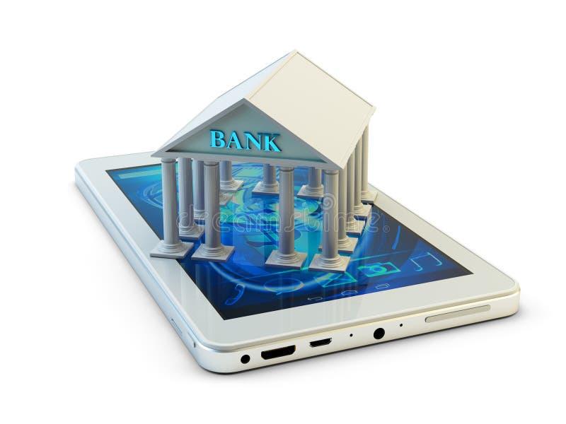 Mobiel bankwezen en ver betalingsconcept vector illustratie