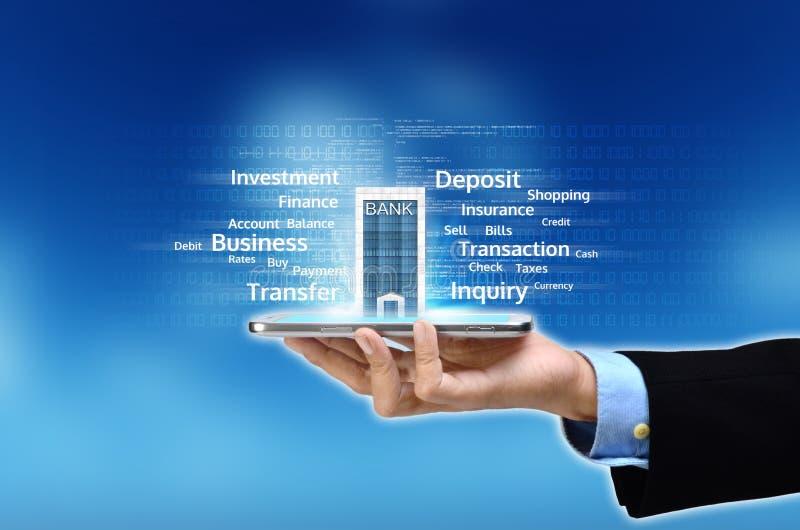 Mobiel bankwezenconcept stock afbeeldingen