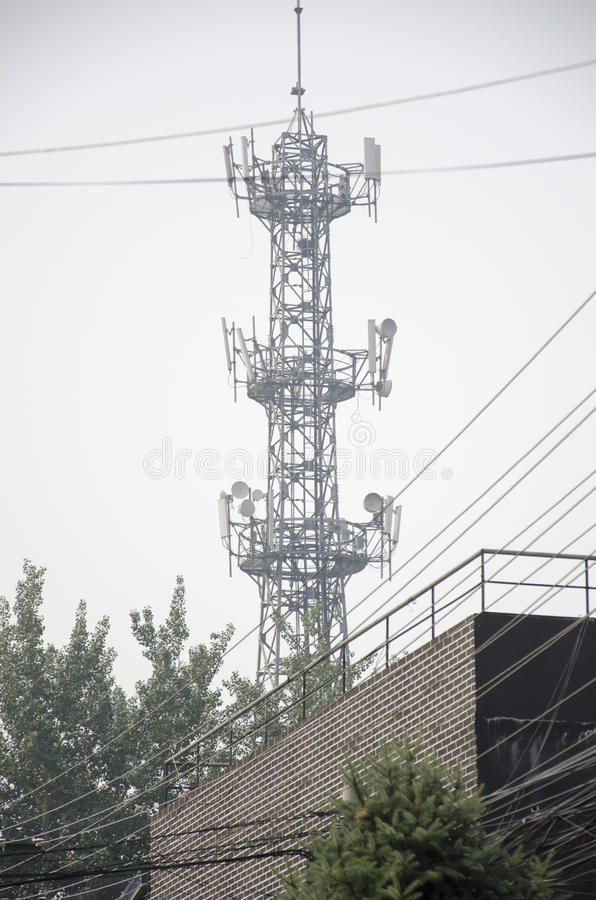 Mobiel Basisstation royalty-vrije stock afbeeldingen