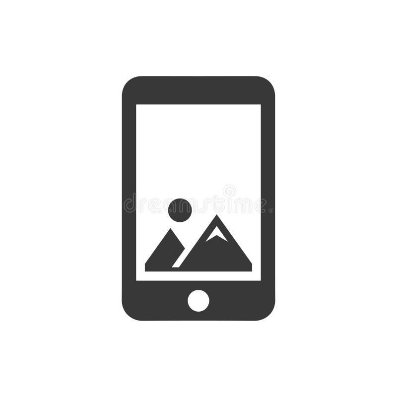 Mobiel beeldpictogram royalty-vrije illustratie