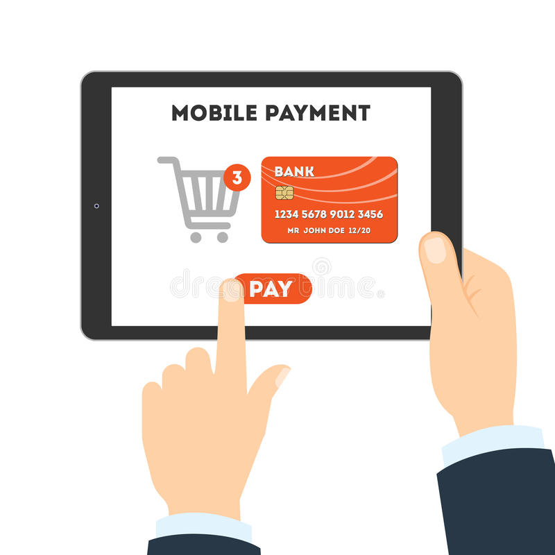 Mobiel betalingsconcept stock illustratie