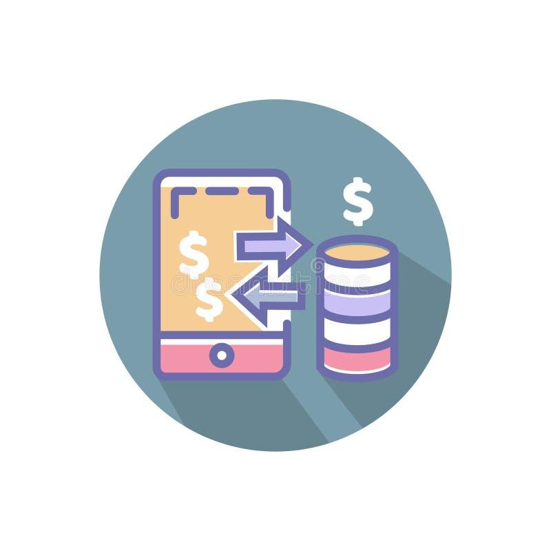 Mobiel betalingspictogram het mobiele pictogram van het betalings vector perfecte pixel voor website of mobiele toepassingen royalty-vrije illustratie