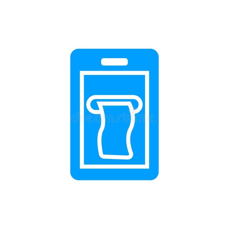 Mobiel betalingspictogram stock illustratie