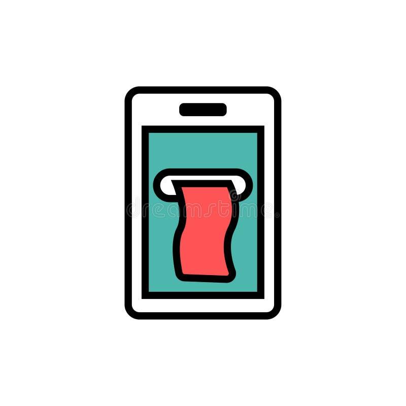 Mobiel betalingspictogram royalty-vrije illustratie