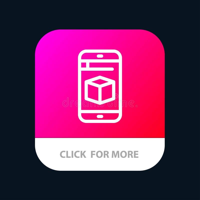 Mobiel, Cel, Doos, de Knoop van de Technologiemobiele toepassing Android en IOS Lijnversie royalty-vrije illustratie