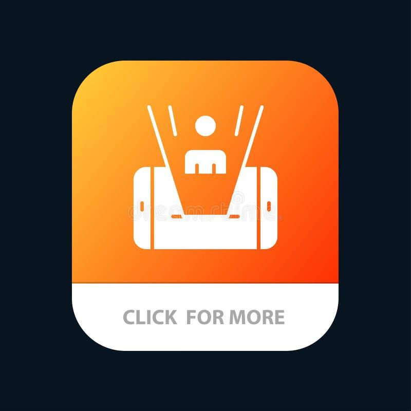 Mobiel, Cel, Mens, de Knoop van de Technologiemobiele toepassing Android en IOS Glyph Versie stock illustratie