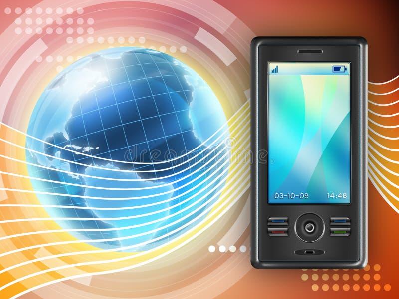 Mobiel communicatiemiddel vector illustratie