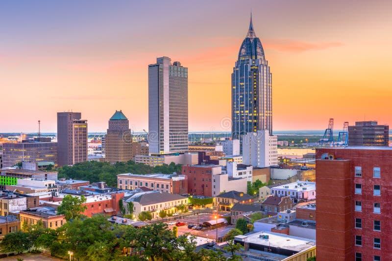 Mobiel, de Horizon van Alabama, de V.S. stock afbeeldingen