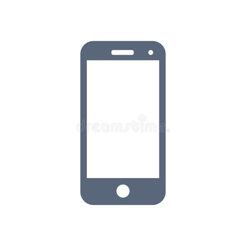 Mobiel die pictogram op witte achtergrond wordt geïsoleerd Vector royalty-vrije illustratie