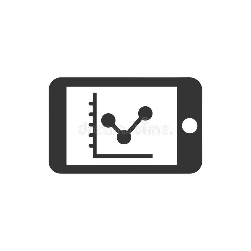 Mobiel Marketing Prestatiespictogram vector illustratie