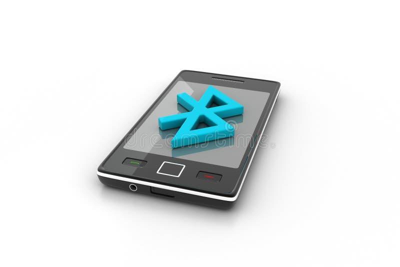 Mobiel met Bluetooth connectionc vector illustratie