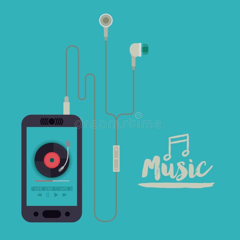 Mobiel muziekontwerp royalty-vrije illustratie