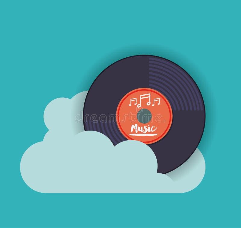 Mobiel muziekontwerp vector illustratie