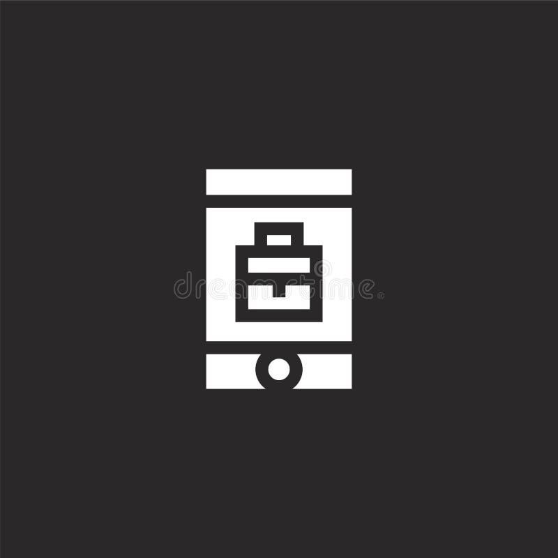 Mobiel pictogram Gevuld mobiel pictogram voor websiteontwerp en mobiel, app ontwikkeling mobiel pictogram van gevulde beheersinza vector illustratie