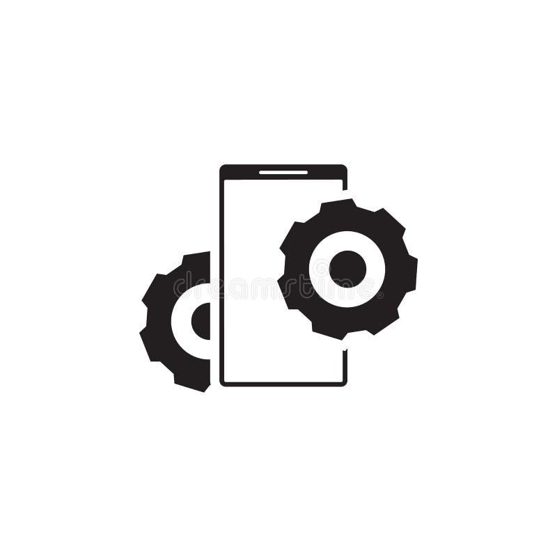 Mobiel, reparatiepictogram Tekens en symbolen het pictogram kan voor Web, embleem, mobiele toepassing, UI, UX worden gebruikt vector illustratie