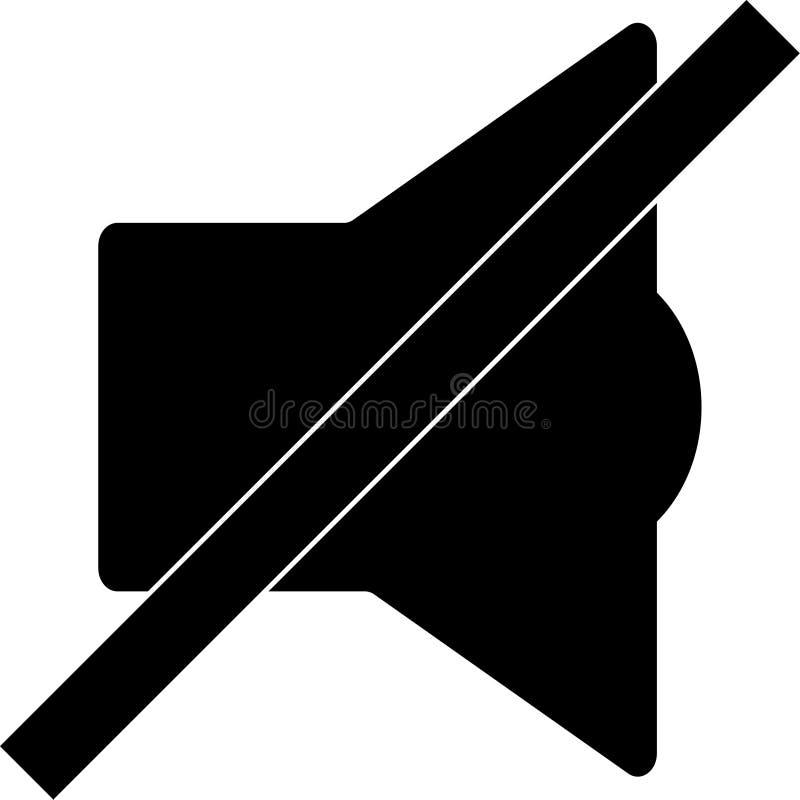 Mobiel Slim Telefoongeluid van Vectorpictogram stock illustratie