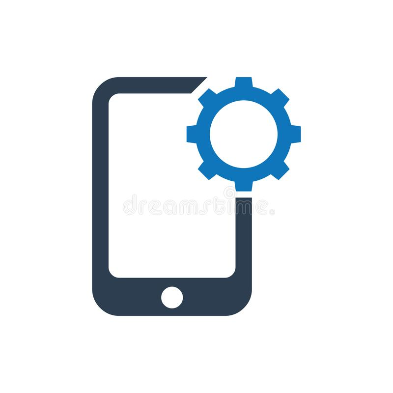 Mobiel steunapp pictogram royalty-vrije illustratie