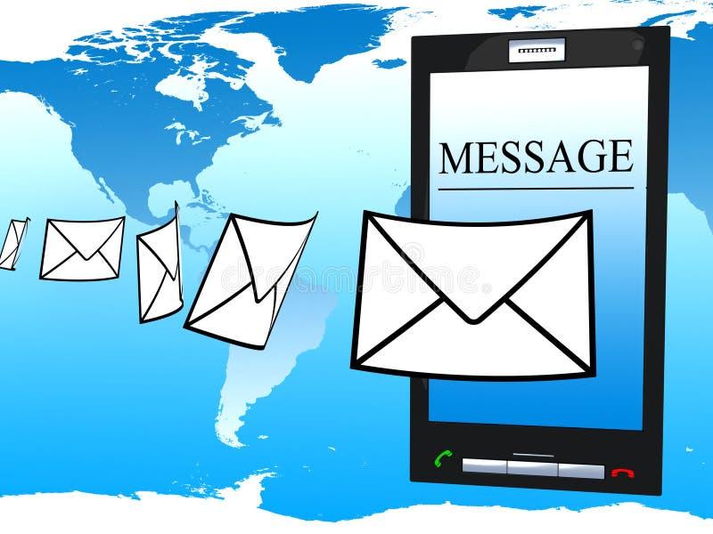 Mobiel telefoon en bericht stock illustratie